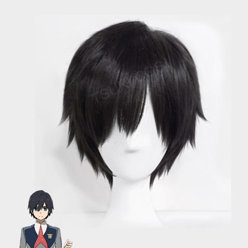 Wig Cap Glasses Yuri on Ice Katsuki Yuuri Cosplay Wig Black Short Hair Wigs