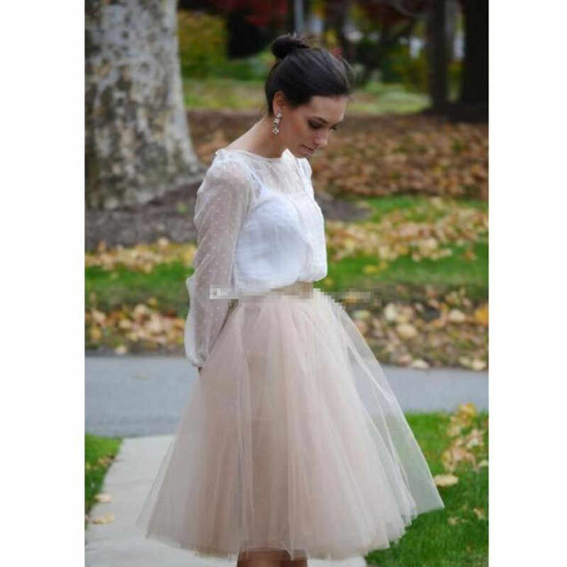 e05f77551f3f4 ... Fashion Short Tulle Skirts For Women Pleated Khaki Women Tutu Skirts  Plus Size Maxi Beach Party ...