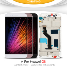 купить For Huawei G8 GX8 LCD Display With Frame Touch Screen Digitizer Assembly Replacement For Huawei G8 RIO-L01 RIO-L02 RIO-L03 по цене 1373.42 рублей