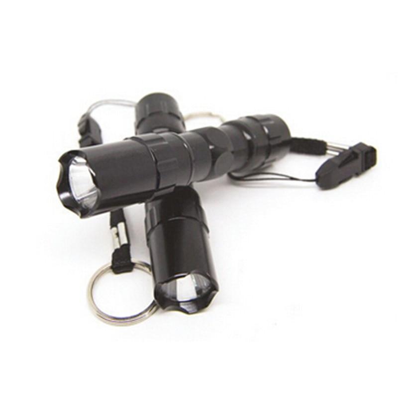 Mini LED Flashlight Linternas Mini Black LED Torch Waterproof LED Torch Flash Bike Light free shipping