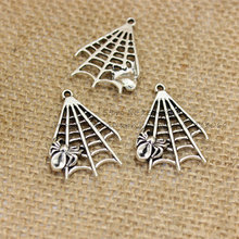 30pcs/lot Metal Lovely Spider Charms Jewelry Findings 23*32m