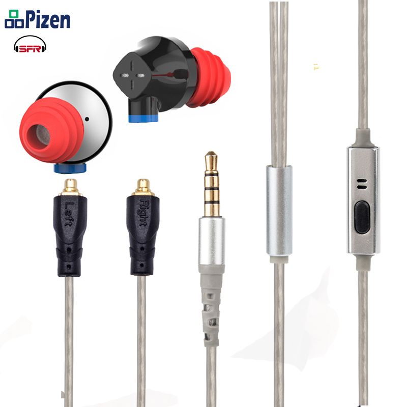 SENFER DT6 1BA+1DD+Ceramic Piezoelectric Hybrid 3 Drive In Ear Earphone earbuds earplug headset KZ aptx bluetooth mmcx cable