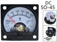 So-45 dc 150 v 250 v 300 v 450 v 500 v 750 v parafuso montado voltímetro 47*47mm do medidor do painel da tensão