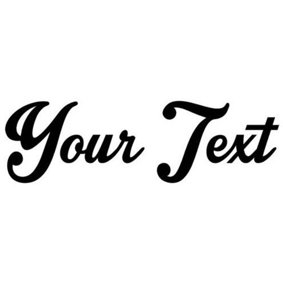 Your text vinyl decal sticker car window bumper custom 8 personalized lettering