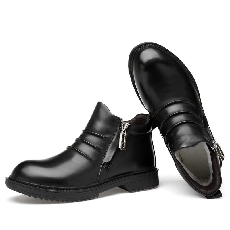 7d10421da89 2018 new fashion men's boots genuine leather zipper ankle boot shoe ...