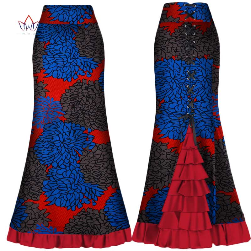 african skirts for women long Maxi Skirt for Women Plus Size new african women clothis one piece lady clothes 4xl natural wy300