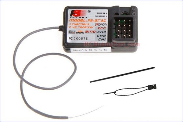 NEW 100% Fly Sky FS-GR3C GT3B GT2 2.4Ghz 3CH Failsafe Receiver +free shipping ...