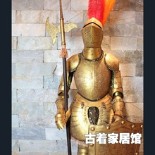 European iron armor warrior retro model / Rome decoration luxury crafts Knight / bar decoration 2 meters