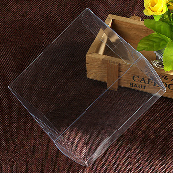 100pcs 7*7*7cm Transparent waterproof PVC boxes Packaging small plastic Clear box storage for food/jewelry/Candy/Gift/cosmetics
