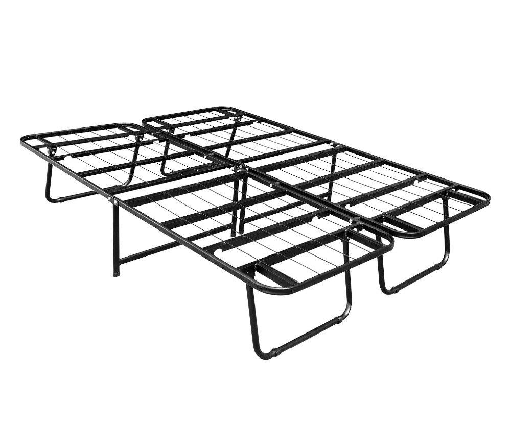 hlc 15 inch folding heavy duty smartbase mattress foundation platform bed frame sturdyquiet noise freenon slip queen