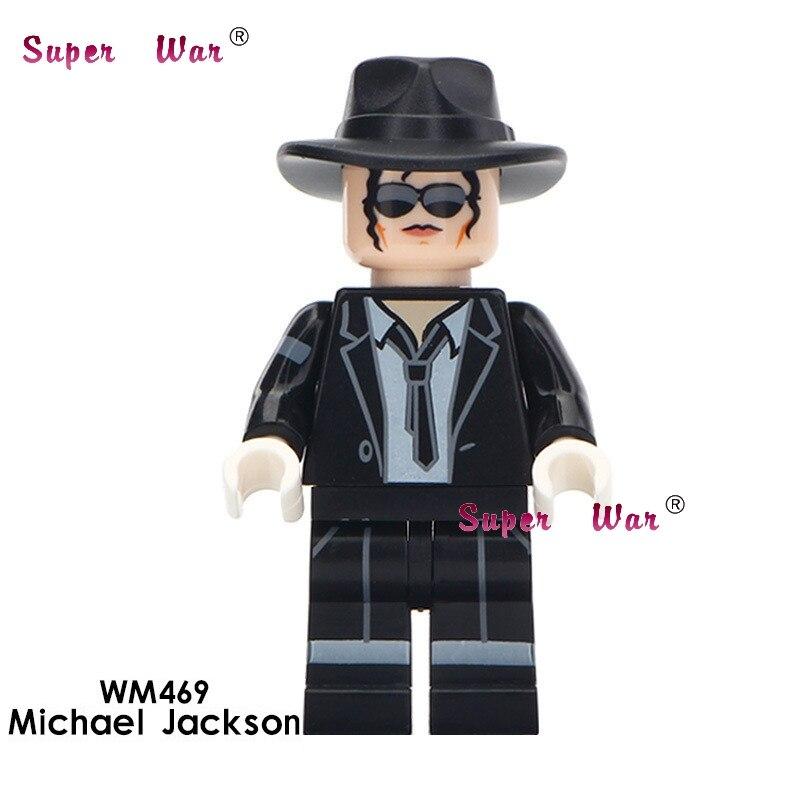 Один Майкл Джексон Дональд Трамп Элвис Арон Хэллоуин тема ужасов фильм цифры строительные блоки кирпичи игрушки для детей