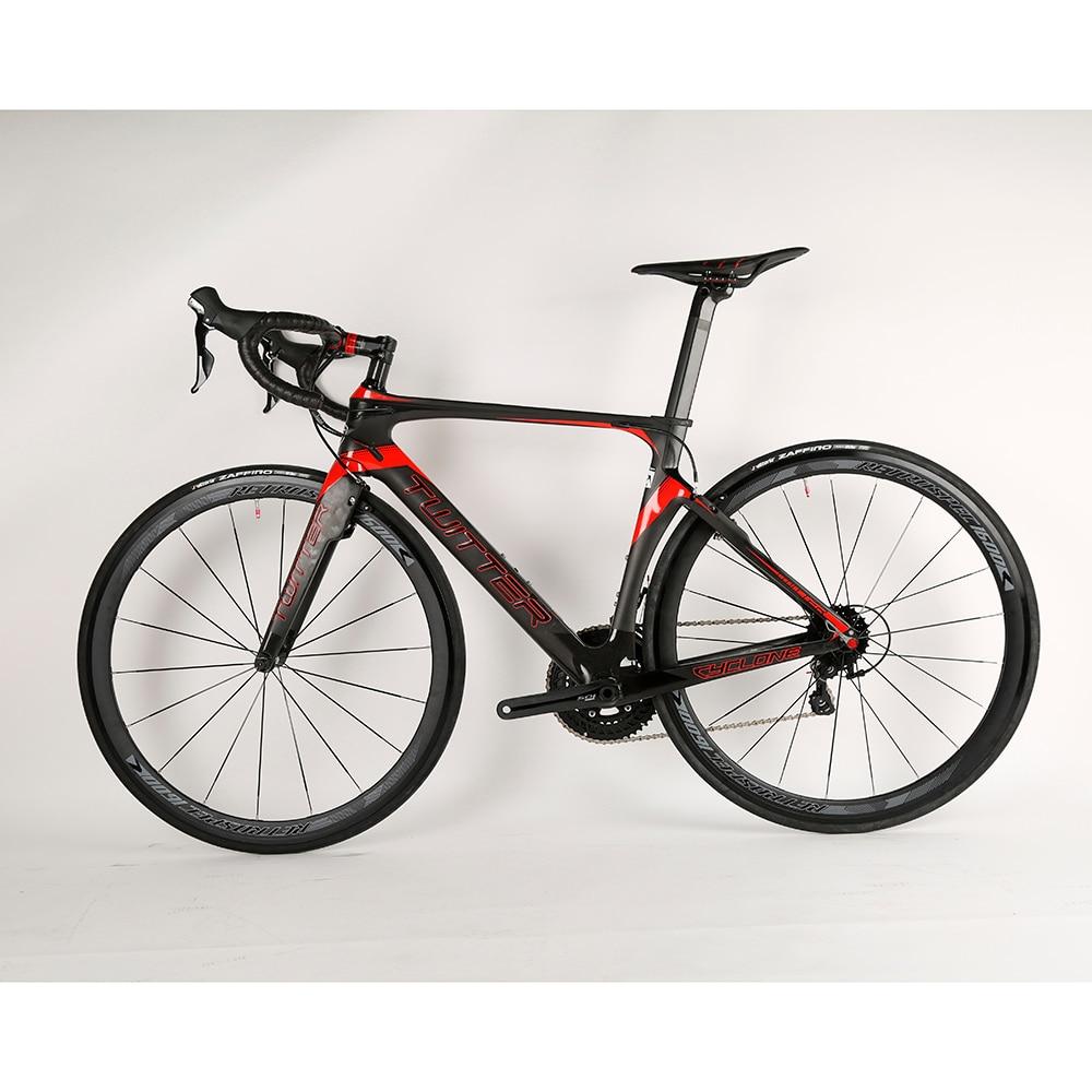 OG-EVKIN 2017 Popular Carbon fiber complete road bike super light BSA V brake Aluminum Wheels