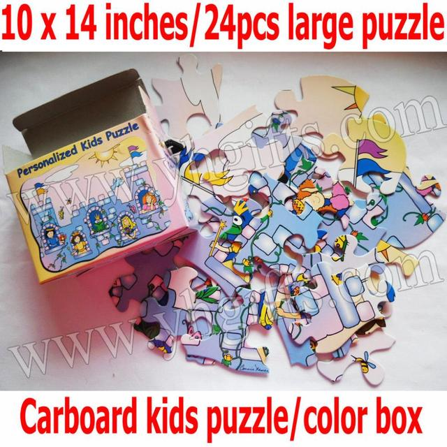 1box lot cardboard castle personalized kids puzzles christmas toys