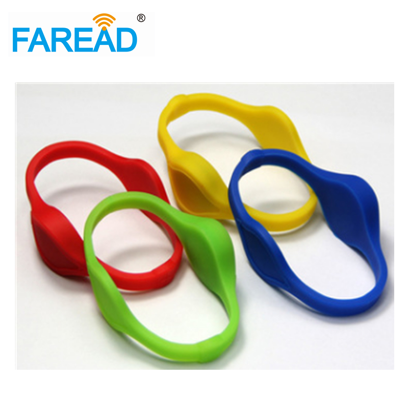 Free Shipping X100pcs  13.56MHz Ntag216 NFC  RFID Wristband  For  Sauna Bath Center, Supermarket