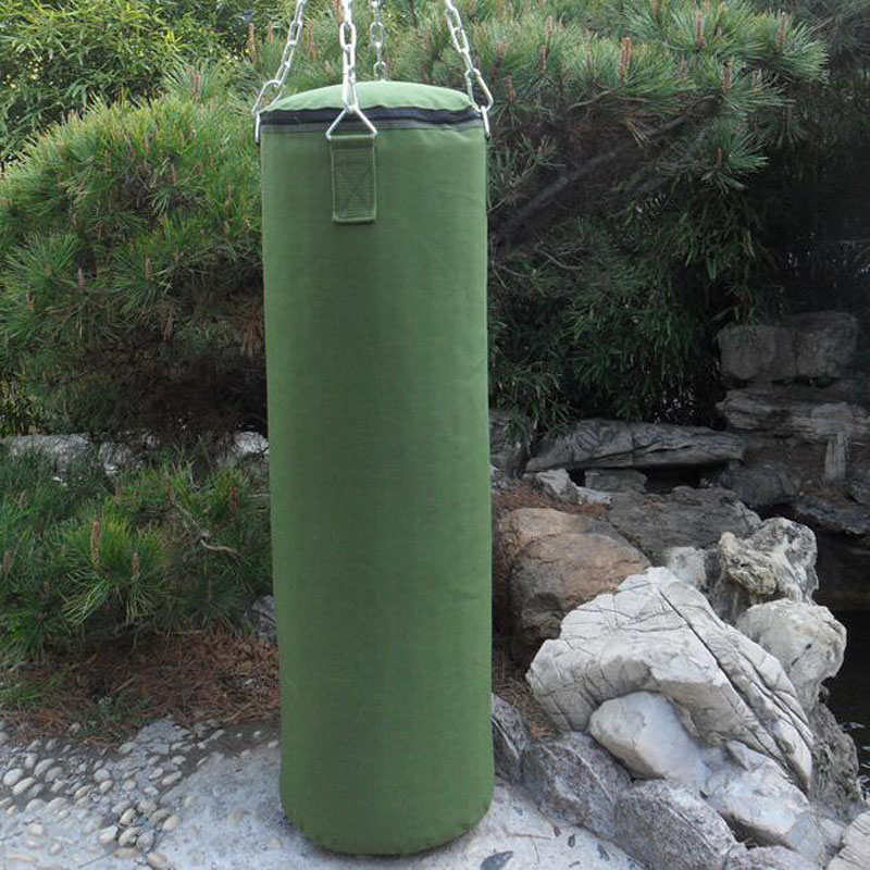 80/100/120 cm Green Cavas Boxing Punch Sandbag For Men Women Muay Thai MMA boxeo Sanda Fight Training Sandbags saco de pancadas(China)