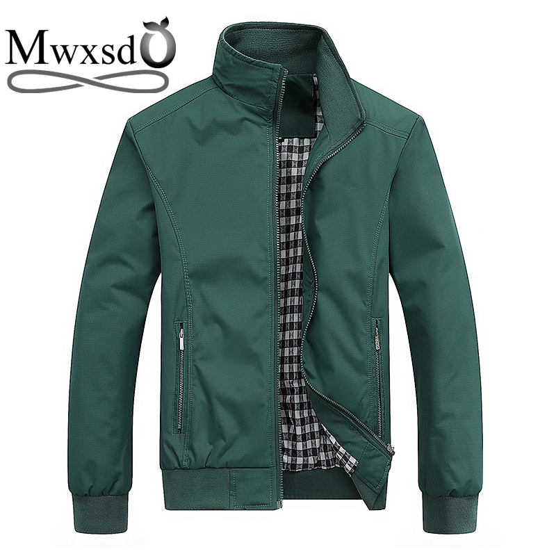 Mwxsd Brand 6xl 7xl Big Size Autumn Mens Slim Fit Stander Collar Jacket And Coat Casual Loose Mens Jacket Bomber Jacket