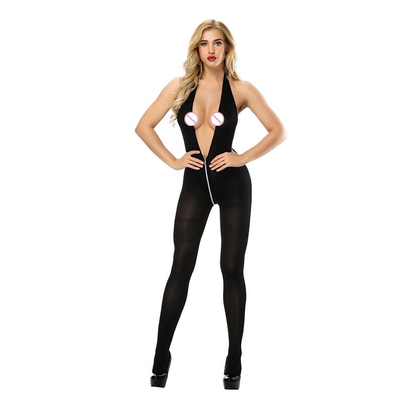 Women Sexy Lingerie Sling Fun Siamese Mesh Sexy Underwear Women Open File Siamese Stockings Female Sex Flirting Suit