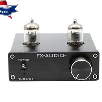 FX AUDIO Preamp Tube Amplifier DC12V 1A Bile Buffer 6J1 HIFI Audio Preamplifier With Power Supply