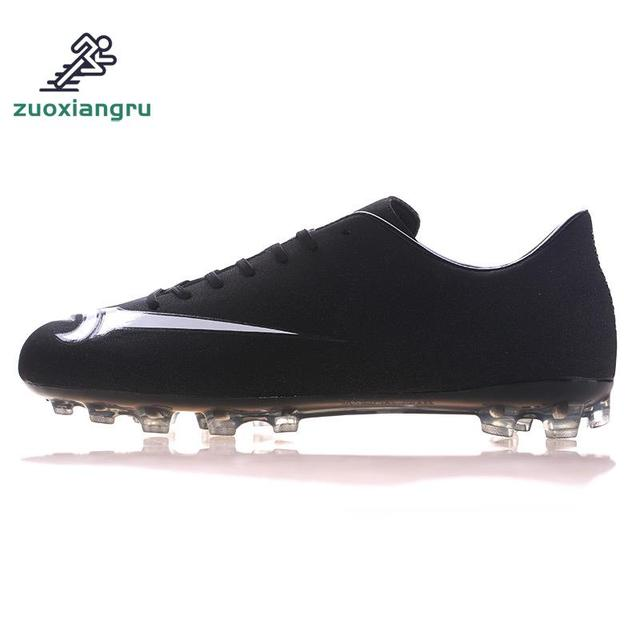 promo code 923cf 8b469 US $30.59 49% OFF|Mid Cut Teenager Football Shoes Outdoor FG Soccer Cleats  Firm Ground Kids Men Boys Soccer Boots Scarpe Da Calcio Size 33 44-in ...
