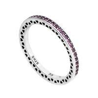 2017 Nueva Cereza Radiante Corazones Anillo Original de plata de ley 925 y marca de joyería de DIY que hace anillos mujeres buen regalo REW3