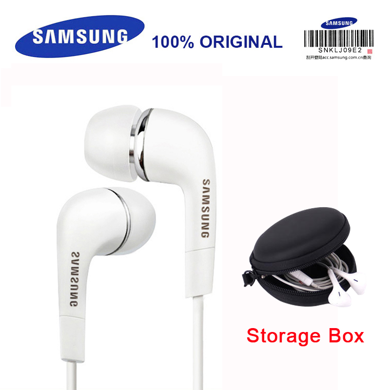 SAMSUNG Earphone EHS64 Headsets Wired with Black Storage Box Built-in Microphone 3.5mm In-Ear Headsets for Smartphones S9 S9Plus stylish in ear earphone w microphone for samsung i9500 i9300 orange