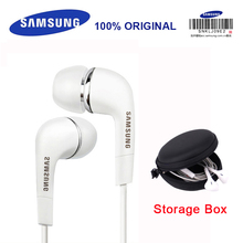 SAMSUNG Earphone EHS64 Headsets Wired with Black Storage Box Built-in Microphone 3.5mm In-Ear Headsets for Smartphones S9 S9Plus