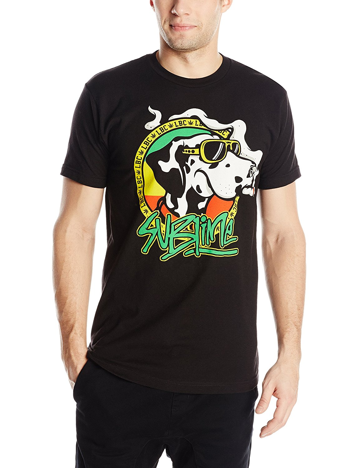 FEA Merchandising Mens Sublime Cartoon Dog with Joint Lightweight T-Shirt