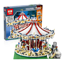 Lepin 15013 City Street Creator Carousel Model Building Kits Blocks Toy 3263PCS Presale