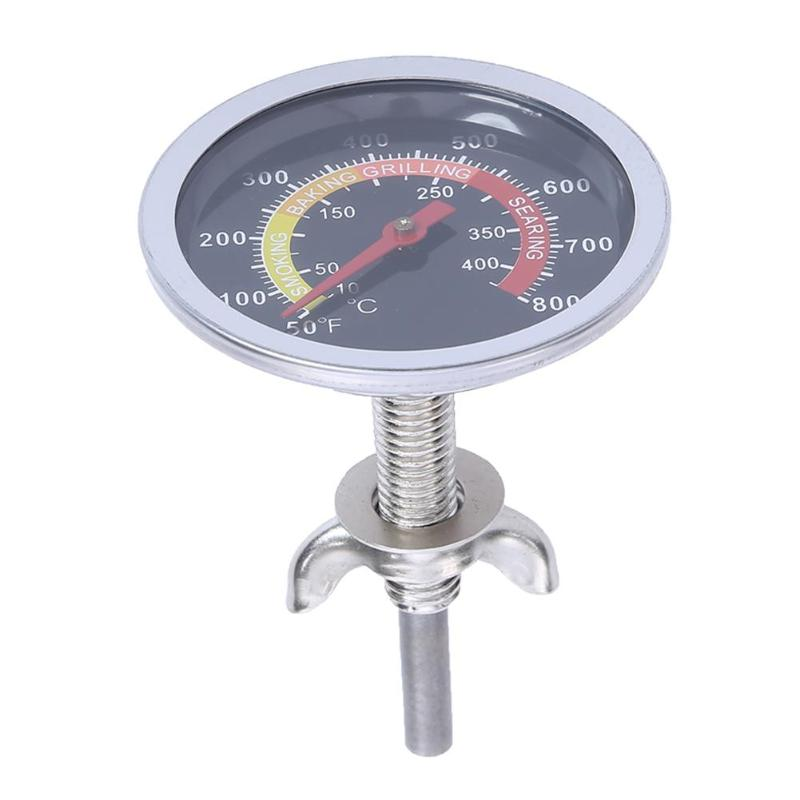 Cooking <font><b>Thermometer</b></font> Barbecue Stove <font><b>Thermometer</b></font> BBQ Stainless Steel Temperature Measure Instruments 0 to <font><b>1000</b></font> <font><b>degrees</b></font> Celsius image