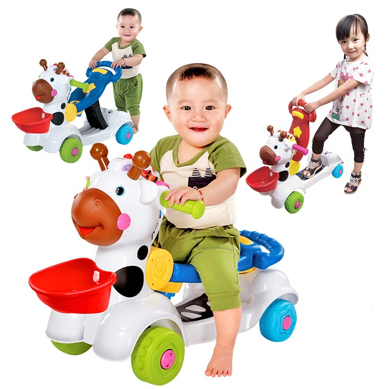 Multi-function Baby Walker Assistant with Wheels Musical Child Trolley Baby Balance Car Four Wheels Baby Walker Stroller 12~36M менажница круглая lcs сады флоренции lcs092 bo al