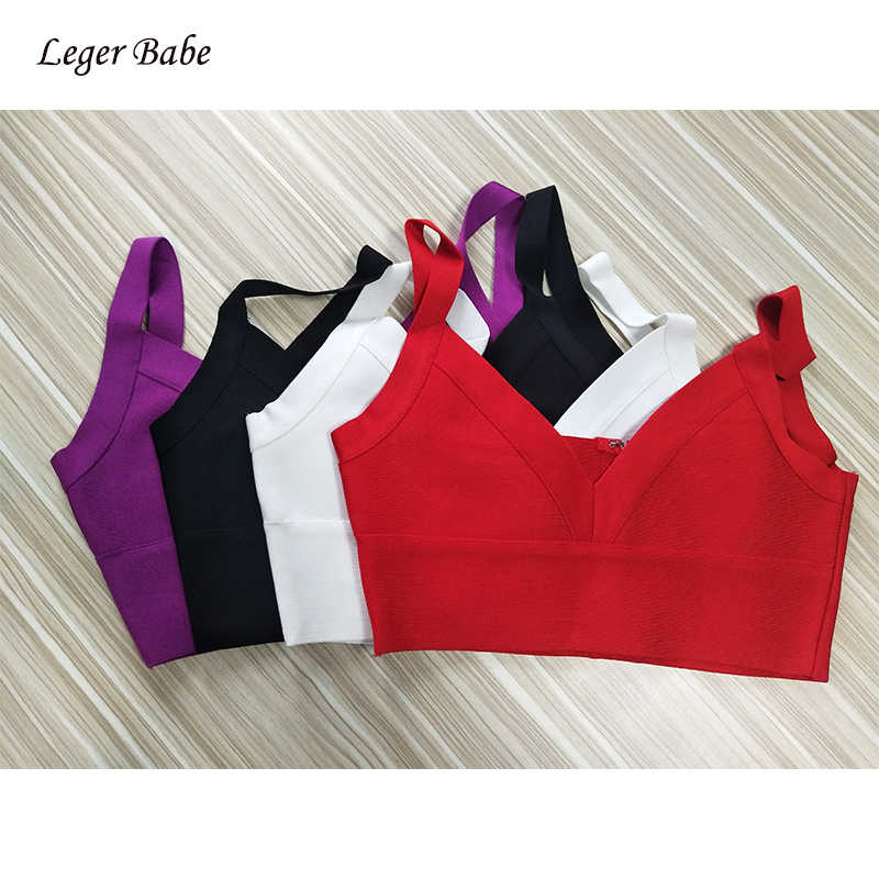Leger Babe Vrouwen Bandage Crop Top Sexy Spaghetti Band V-hals Korte Crop Top 2019 Nieuwe Celebrity Party Club Wear paars Wit Rood