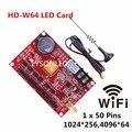HD-W64 большой USB-драйвер и WIFI Беспроводная светодиодная карта дисплея, поддержка одного цвета, двойное P10 наружное сообщение