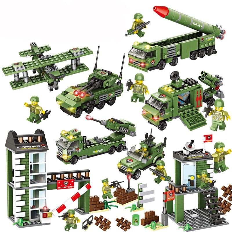 1219pcs Compatible legoed Tank german military model building kits blocks army world war Army combat force kids toys technic