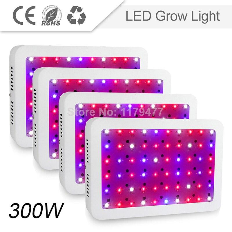 4PCS 300W High Power LED Grow Light Full Spectrum 410-730nm Red/Blue/White/UV/IR For Indoor Plants