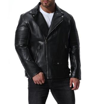 mens leather jacket slim motorcycle leather coat men jackets clothes personalized Europe and America street fashion black autumn