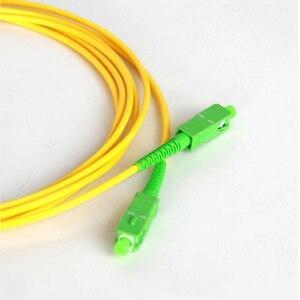 Image 4 - Fiber Optic Jumper Cable 10pcs/bag SC/APC Patch Cord  PVC Yellow 3.0mm 9/125 Singlemode Simplex Fiber Jumper