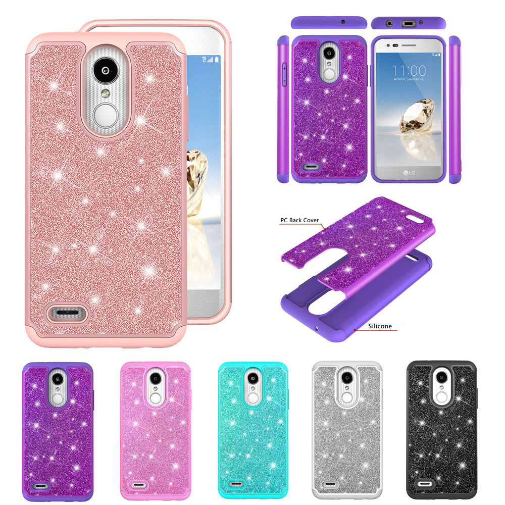 Bling Glitter Case For LG K8 2018 Aristo 2 Plus Tribute