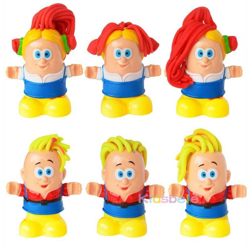 Juguete para niños, peluquero, juguetes de arcilla para niños, arcilla de modelado, masa de barro hecha a mano, juguete educativo de barbero