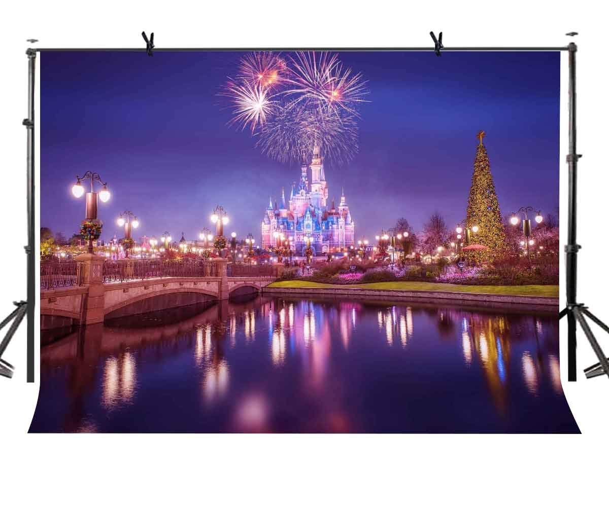 Obliging 7x5ft Evening Backdrop Brightly Lit Fireworks Photography Background And Studio Photography Backdrop Props Diversified In Packaging
