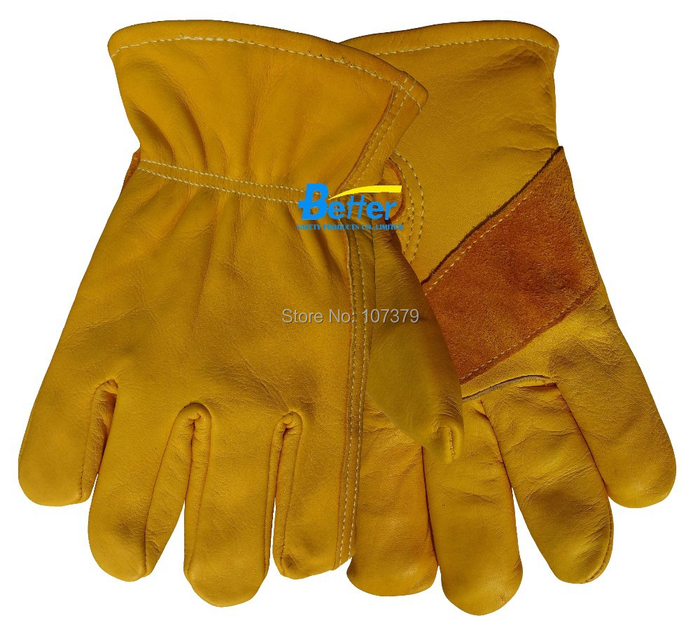 Good quality leather work gloves - Leather Work Glove Cow Grain Leather Safety Glove Tig Mig Welding Gloves Leather Driver Gloves