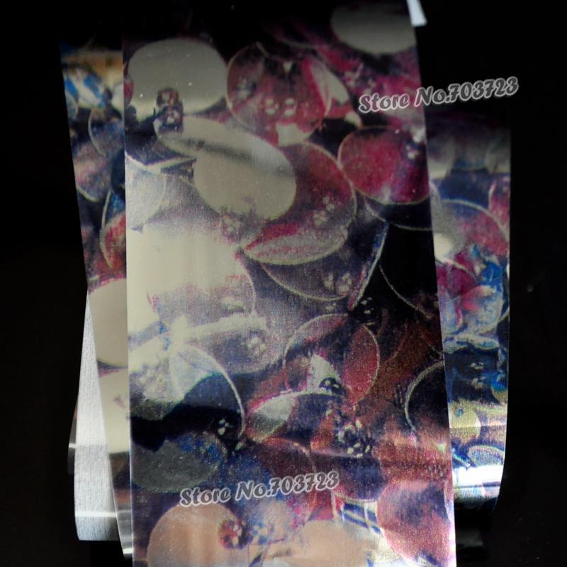 Dark Blue When the Grape is Ripe Nail Art Glue Transfer Foil Mix Color DIY Nail Supplies Sticker CZ806