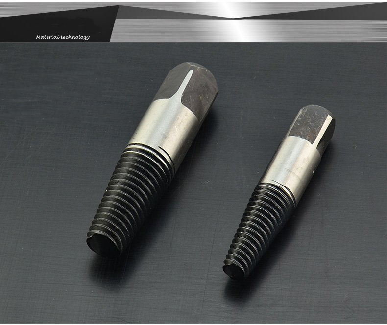 Image 3 - 8 pcs steel screw bolt extractors game broken pipe damaged screw removal  break broken extractor Double Side Screw Extractor-in Drill Bits from Tools