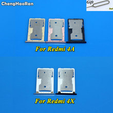 ChengHaoRan For Xiaomi Redmi 4A 4X SIM Tray New Sim Card Slot Holder Adapter with Tool
