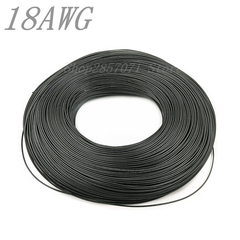 10 Meters  Wire black 18AWG 2.1mm PVC Wire Electronic Cable UL Certification Insulated LED Cable