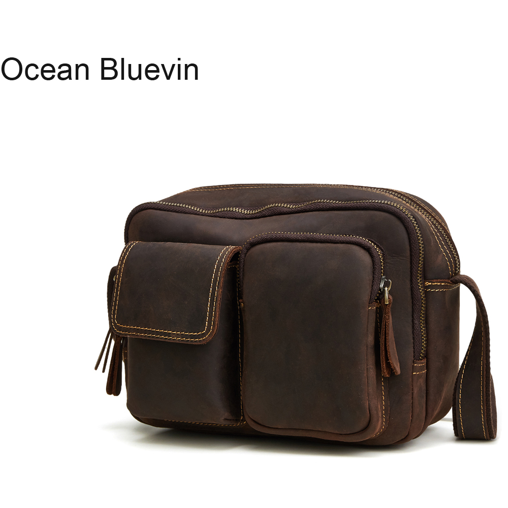 OCEAN BLUEVIN Genuine Leather bag Business Men bags Laptop Tote Briefcases Crossbody bags Shoulder Handbag Mens Messenger BagOCEAN BLUEVIN Genuine Leather bag Business Men bags Laptop Tote Briefcases Crossbody bags Shoulder Handbag Mens Messenger Bag