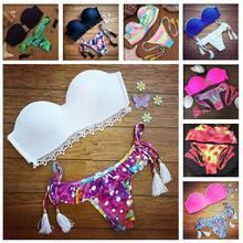 2016 Latest Push Up Print Women Swimsuits Sexy Beach Swimwears Suit Bikini Set Girls Swimwear Hot Gift bathing suits