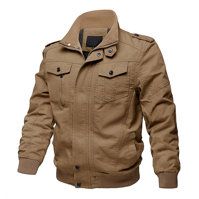 MAGCOMSEN Jacekt Men Autumn Casual Cargo Jackets Military Army Tactical Jacket for Men Casual Cotton Bomber Jacket Coat SSFC-36 1