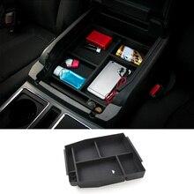 MOPAI araba iç kol dayama saklama kutusu dekorasyon ABS havasız ortam kabini tepsisi Ford F150 2015 Up araba Styling