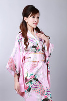 Shanghai Story hot sale Vintage Japanese Style Dress Japan Women's Silk Satin Kimono Yukata Evening Dress 2 color H0040
