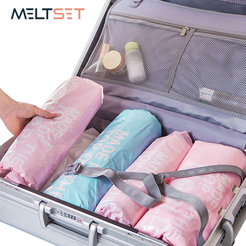 Us 9 99 40 Off 6pcs Set Hand Rolling Vacuum Bags For Clothes Compression Bags Travel Vacuum Storage Bag For Wardrobe Luggage Organization In Storage